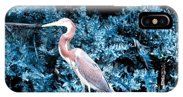 Heron In Blue IPhone Case