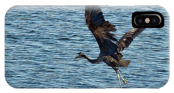 Heron In Flight IPhone Case