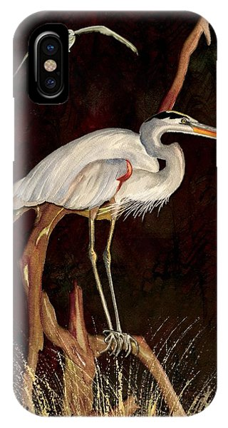 Heron In Tree IPhone Case