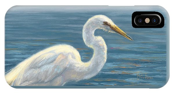 Heron iPhone Case - Heron Light by Lucie Bilodeau