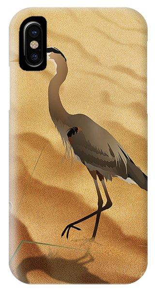 Heron On Golden Sands IPhone Case