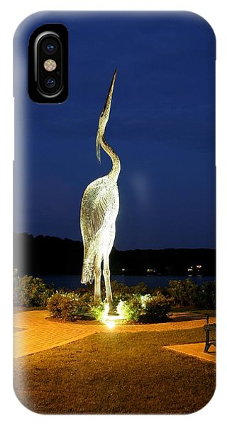 Heron On Mill Pond IPhone Case
