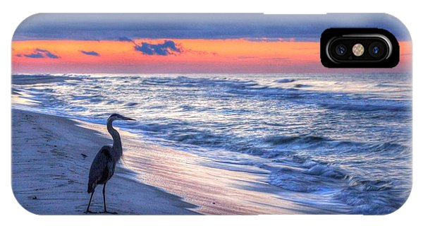 Heron On Mobile Beach IPhone Case