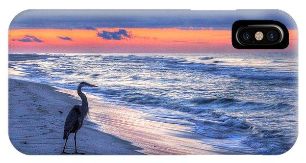 Heron On Mobile Beach IPhone Case
