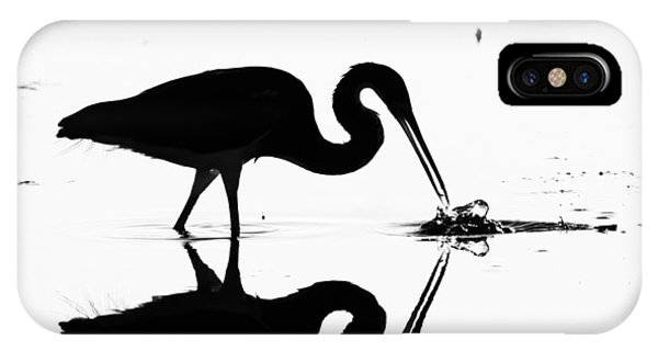 Heron Silhouette Phone Case by Brian Magnier