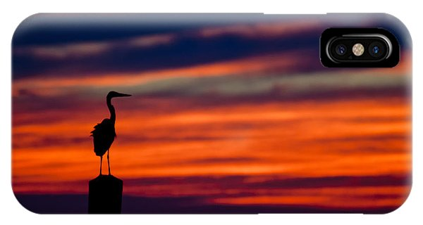 Heron Sunset Silhouette IPhone Case