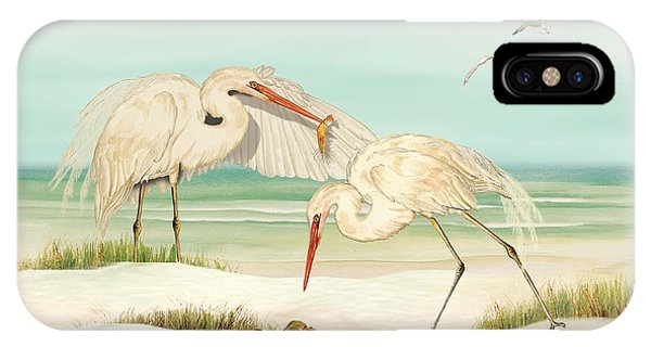 Herons Fishing IPhone Case
