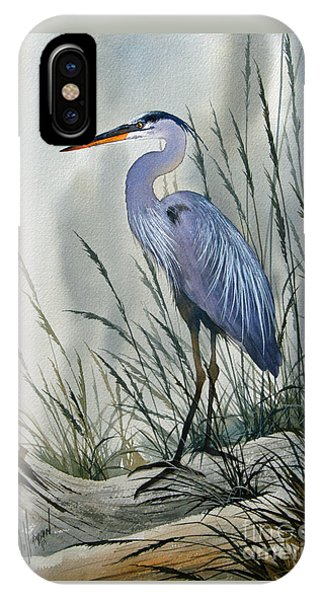 Heron iPhone Case - Herons Sheltered Retreat by James Williamson