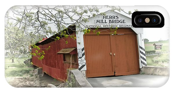 Herr's Mill Historic Bridge IPhone Case