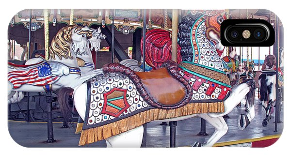 iPhone Case - Herschell Spillman Armored Horse by Barbara McDevitt