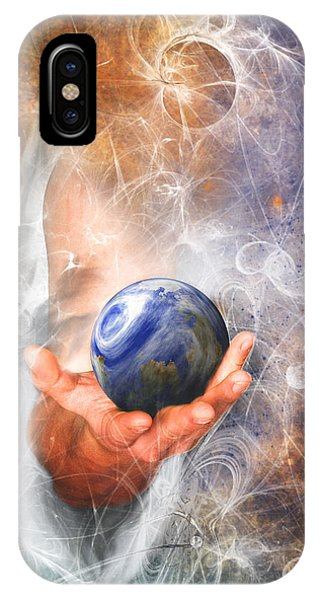 He's Got The Whole World In His Hand IPhone Case