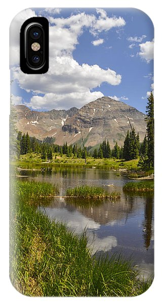 Fourteener iPhone Case - Hesperus Mountain Reflection by Aaron Spong