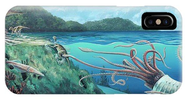 Squid iPhone Case - Heteromorph Ammonite Attack by Richard Bizley
