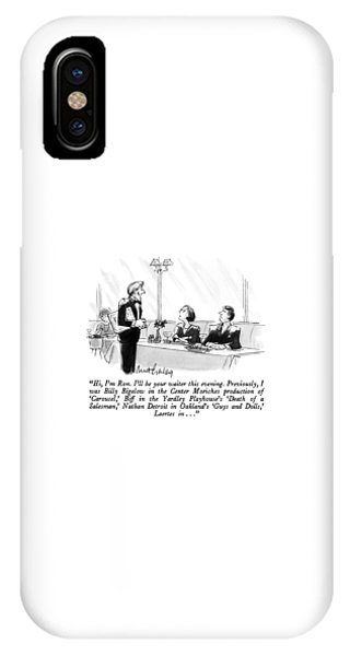Hi, I'm Ron.  I'll Be Your Waiter This Evening IPhone Case