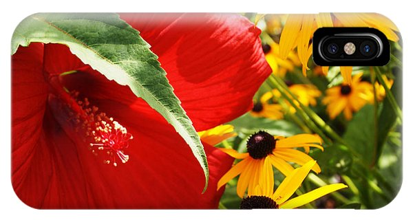 Hibiscus And Black Eyed Susans IPhone Case