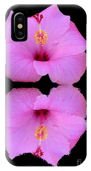 Hibiscus And Reflection IPhone Case