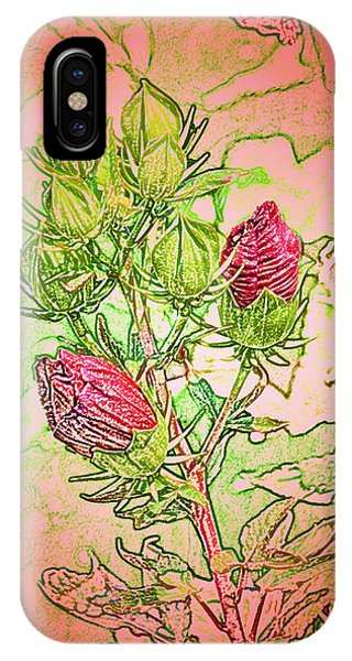 Hibiscus Buds IPhone Case