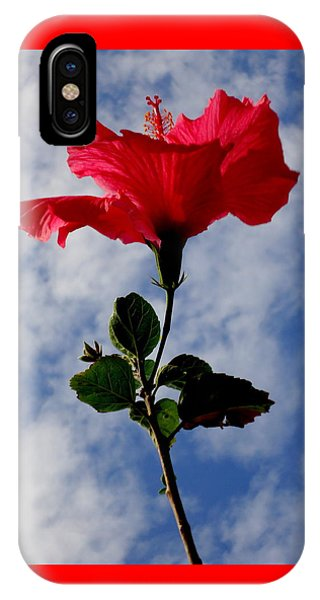 Hibiscus In The Sky IPhone Case