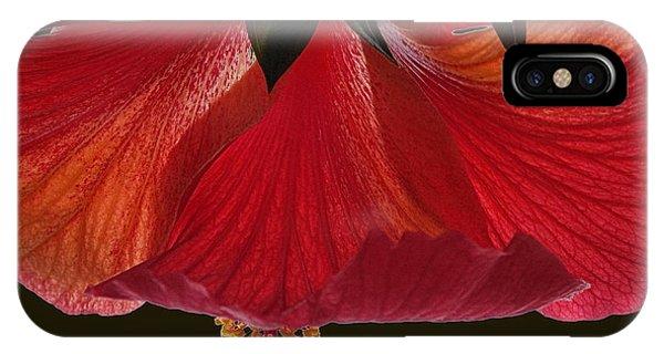 Hibiscus On Black IPhone Case