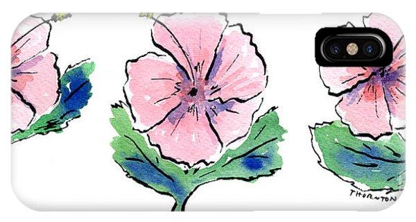 Hibiscus Trio IPhone Case