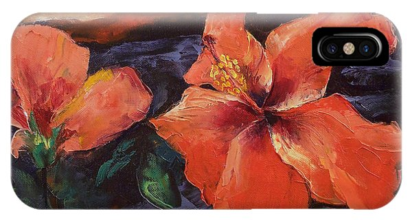 Hibiscus Flower iPhone Case - Hibiscus Volcano by Michael Creese