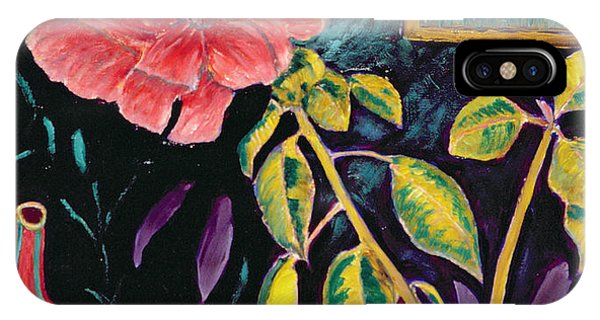 Hibiscus Flower iPhone Case - Hibiscus With Vase by Patricia Eyre