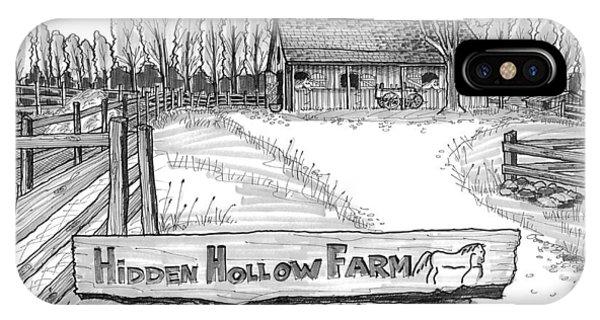 Hidden Hollow Farm 1 IPhone Case