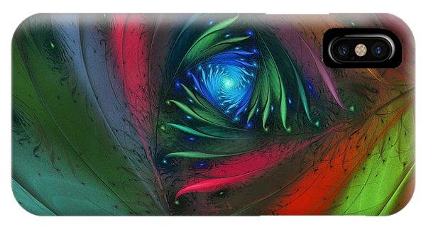 Fractal Landscape iPhone Case - Hidden Jungle Plant-abstract Fractal Art by Karin Kuhlmann