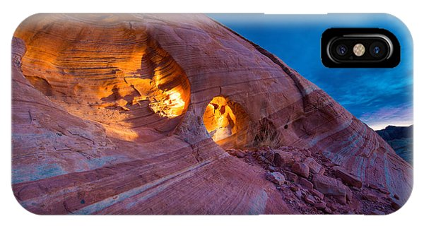 Valley Of Fire iPhone Case - Hidden Light by Chad Dutson