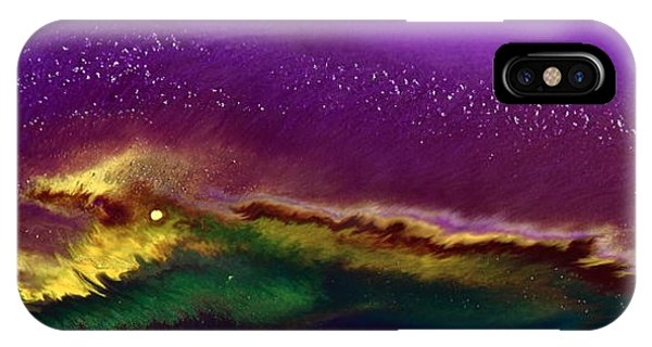 Hidden Moon Fluid Art By Kredart IPhone Case