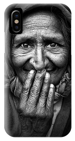 Old iPhone Case - Hidden Smile by Nidhal Alsalmi