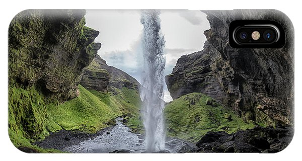 Flow iPhone Case - Hidden Waterfall by Bragi Kort