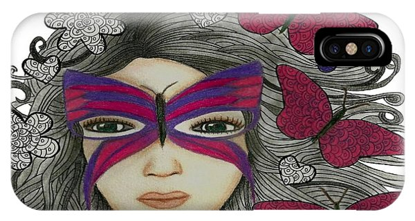 Hiding Me Pencil Drawing By Saribelle Rodriguez IPhone Case