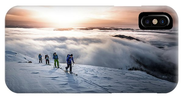 Action iPhone X Case - High Above The Fog by Sandi Bertoncelj