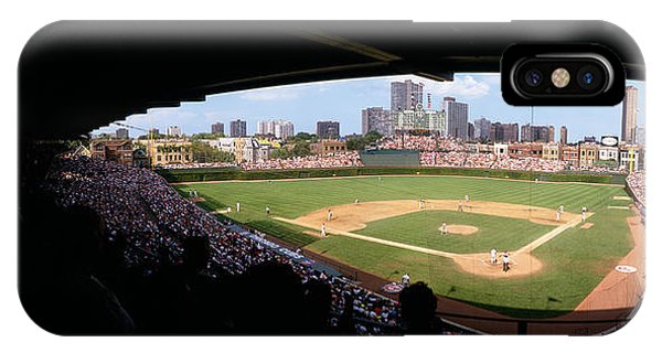 Chicago iPhone Case - High Angle View Of A Baseball Stadium by Panoramic Images