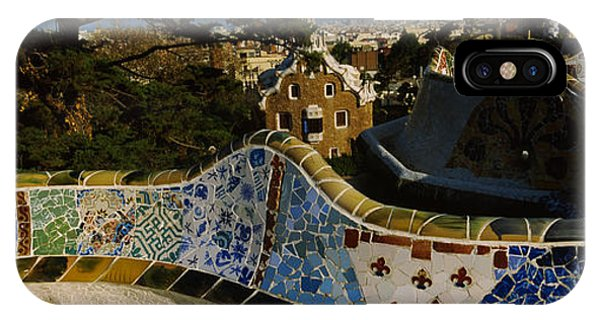High Angle View Of A City, Parc Guell IPhone Case