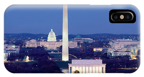 Capitol Building iPhone Case - High Angle View Of A City, Washington by Panoramic Images