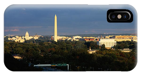 Lincoln Memorial iPhone Case - High Angle View Of A Monument by Panoramic Images