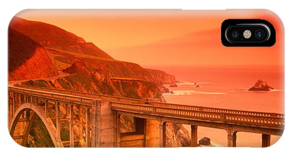 High Angle View Of An Arch Bridge IPhone Case