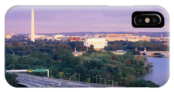Capitol Building iPhone Case - High Angle View Of Monuments, Potomac by Panoramic Images