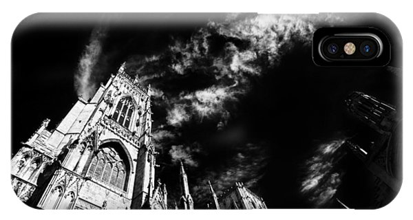 High Contrast York Minster Cathedral IPhone Case