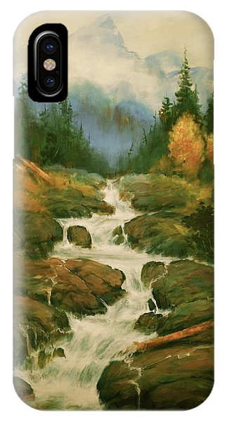 High Country Waterfall IPhone Case