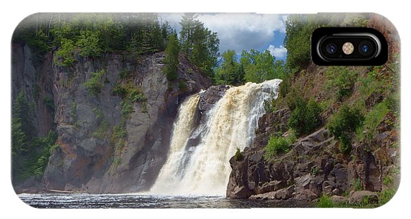Lake Superior iPhone Case - High Falls At Baptism River by Alison Gimpel