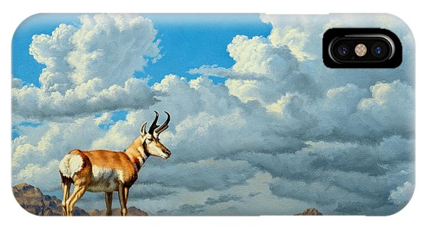 Cloudscape iPhone Case - High Meadow - Pronghorn by Paul Krapf