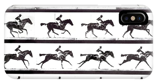High-speed Sequence Of A Galloping Horse And Rider Phone Case by Eadweard Muybridge Collection/ Kingston Museum/science Photo Library