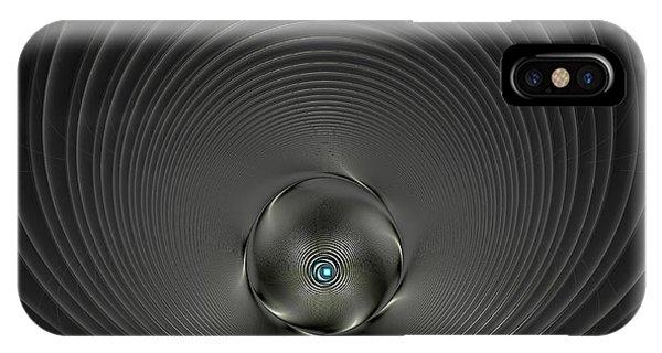 High Tech Dark Silver And Black IPhone Case