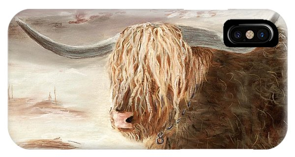 Wheeler Farm iPhone Case - Highland Bull by Anastasiya Malakhova