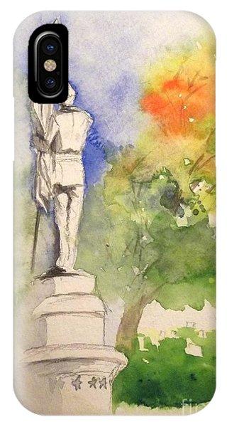 Highland Cemetery-plein Air-ypsilanti Michigan 1 IPhone Case