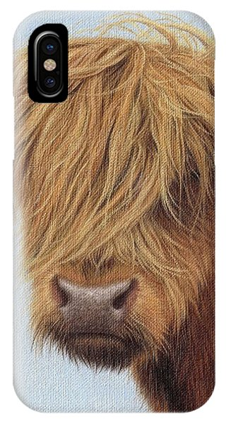 Highland Cow Painting IPhone Case