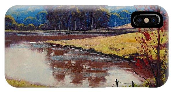 Farmland iPhone Case - Highland Dam by Graham Gercken